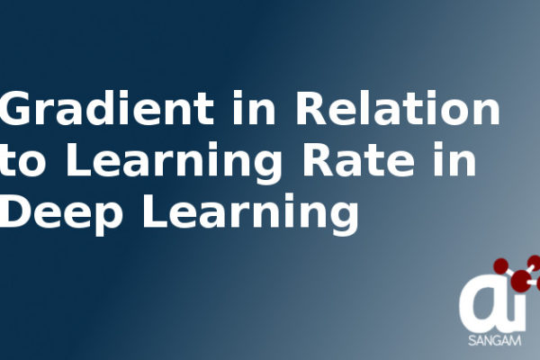 Gradient in Relation to Learning Rate in Deep Learning