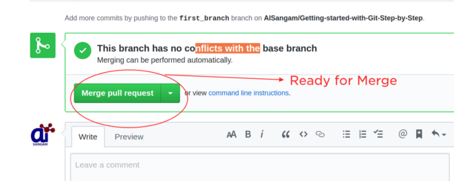if no conflict merge pull request